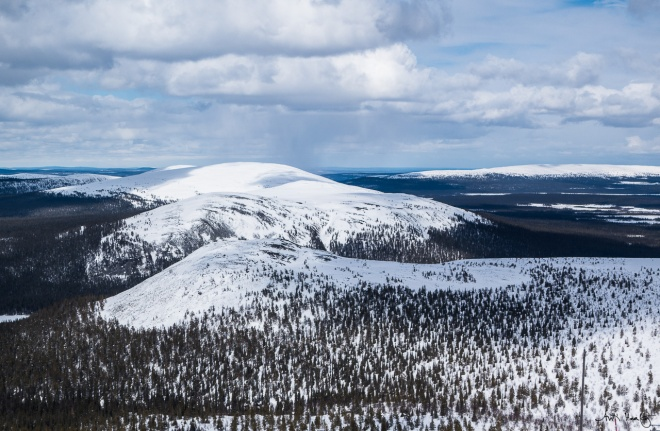 A view over Pallas- Yllästunturi national park from top of Ylläs skiing resort.