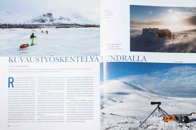 Luontokuva 3/2014 - Kuvaustyöskentelyä tundralla