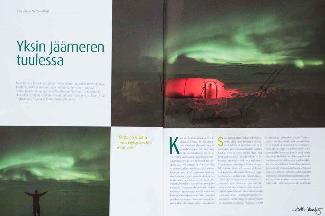 Luontokuva 2/2014. Yksin Jäämeren tuulissa.