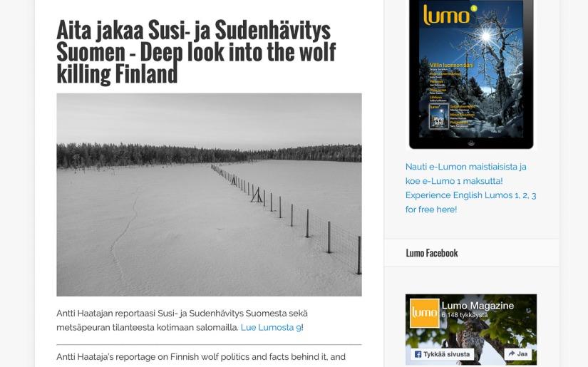 Susi Suomessa – syväanalyysiLumossa